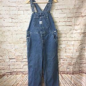 Lee Riveted Dungarees Overalls Vintage Denim Blue